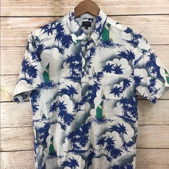 46520f65 J. Crew Factory Other - J crew Mens Button Front Mens Hawaiian Shirt M